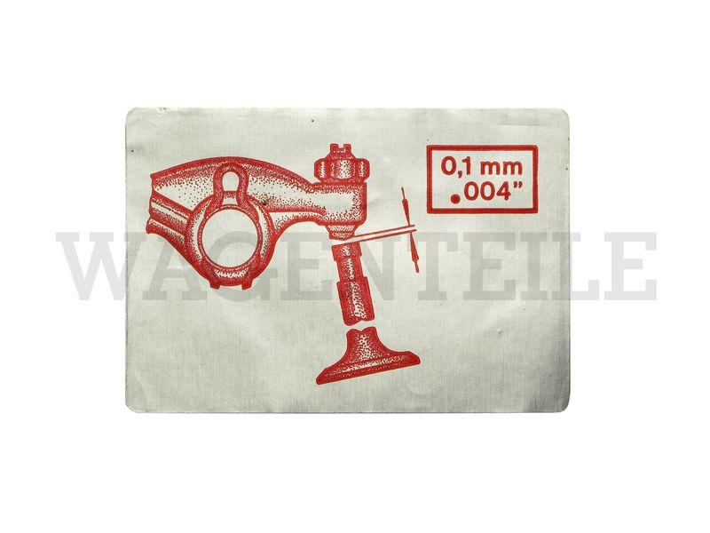 010 109 11A B Aufkleber Ventilspiel 0,1mm