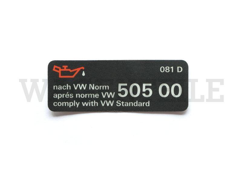 010 115 06H J Aufkleber Öl VW 505 00