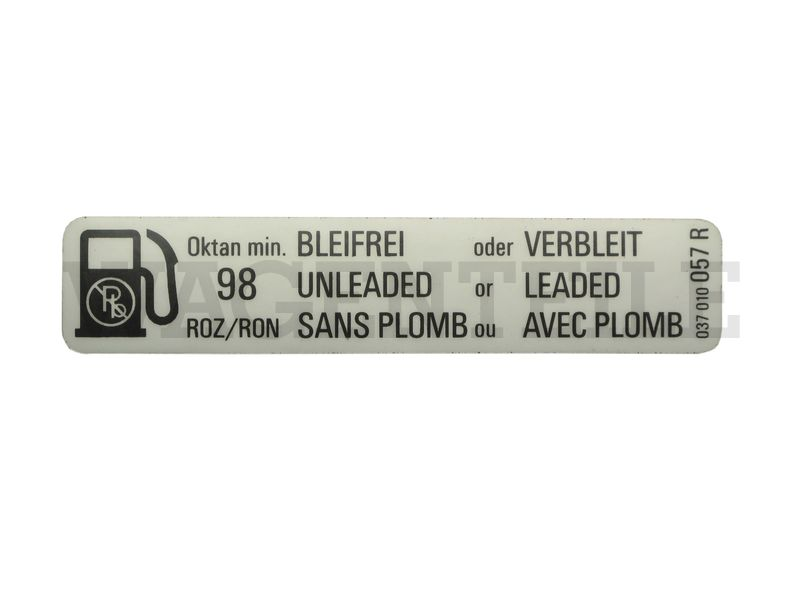 010 201 25A C Aufkleber 'Bleifrei oder...' 98ROZ'