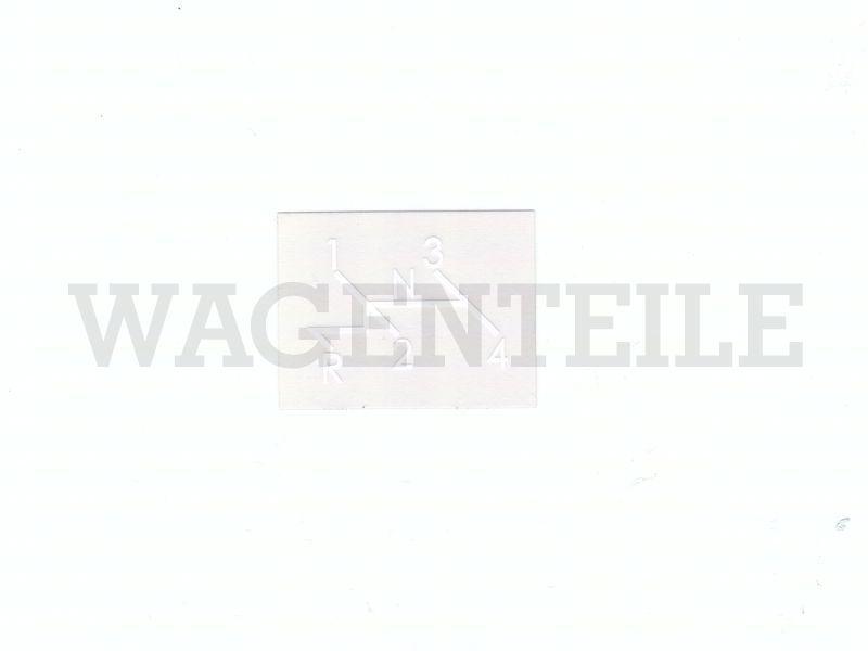 010 711 11A A Aufkleber 'Schaltschema'