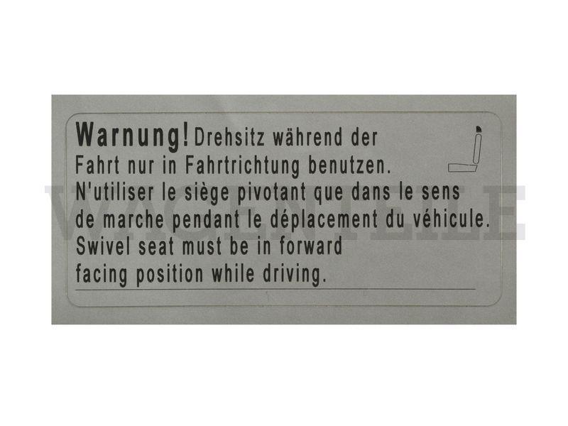010 881 25C Aufkleber 'Drehsitz'